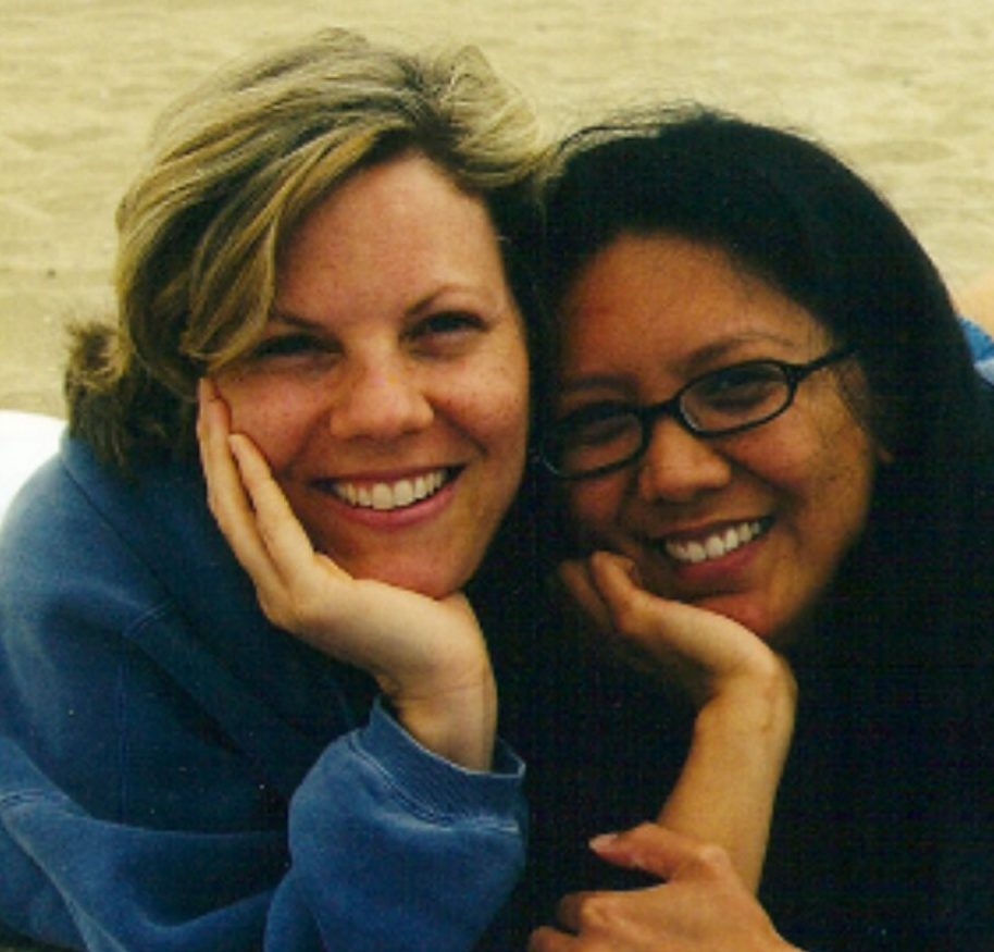 Photo of our founder Suzanne and her friend, Marites, who is now a board member